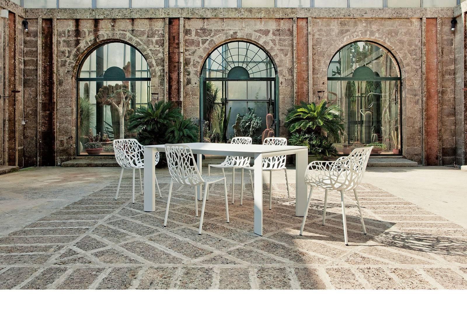 Chaise de jardin, d'extérieur, design, en aluminium, FOREST