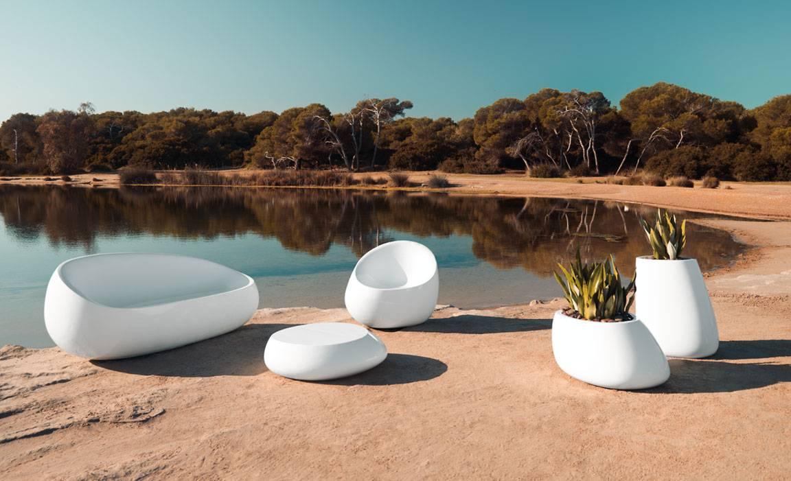 Canapé de jardin design contemporain, STONE par Vondom ...