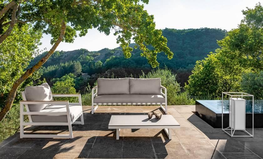 Canapé de jardin design contemporain, haut de gamme, ALABAMA ...