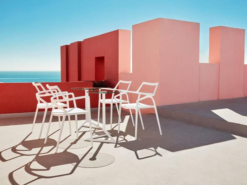 Chaise de jardin design empilable avec accoudoirs, DELTA ...