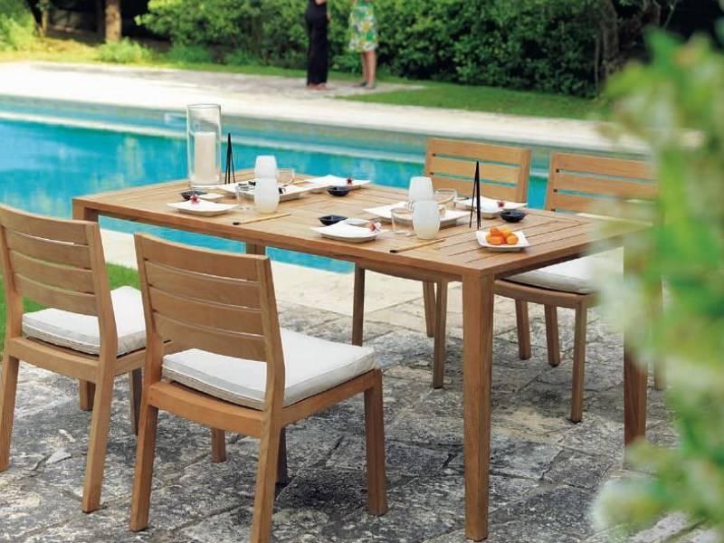 Table de jardin en teck, rectangulaire ou carrée, FRIENDS ...